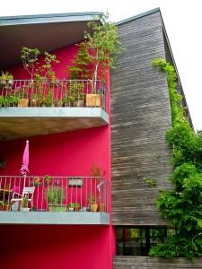 balkon se zelení