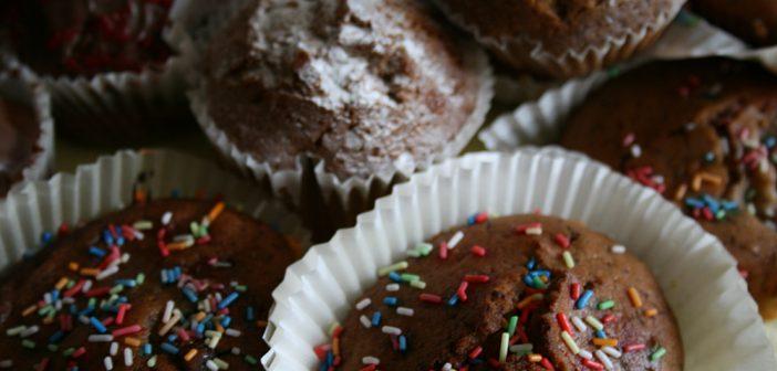 Celozrnné muffiny s čokoládou – chutné a zdravé čokoládové